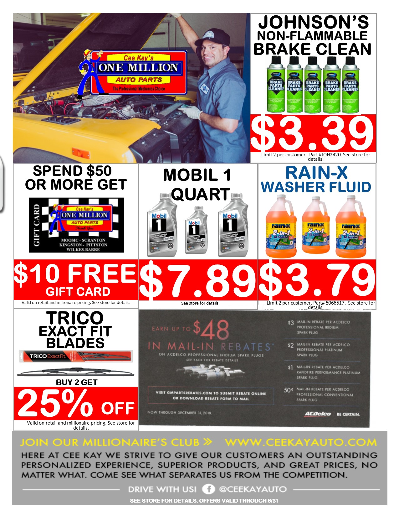 store flyer August - Cee Kay Auto Parts